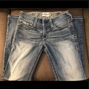 REAL Mid Rise Whipstitch Jeans 28S